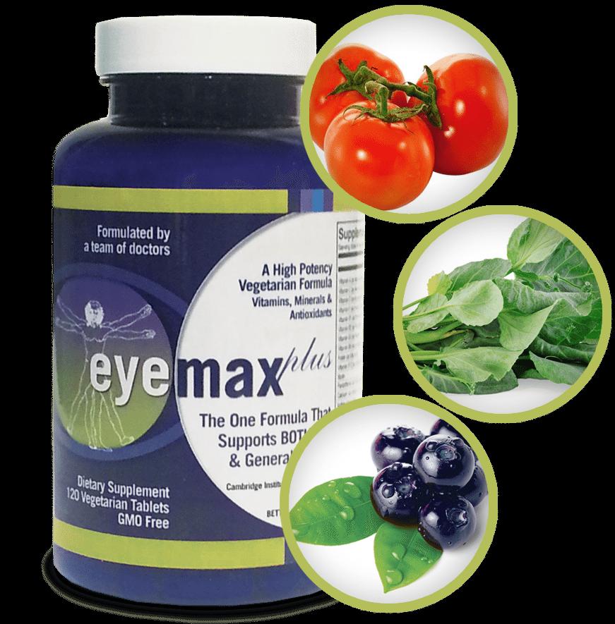 Bottle of vision vitamins